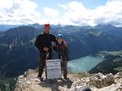 Friedberger Klettersteig : September dieter und daniel nach dem friedberger